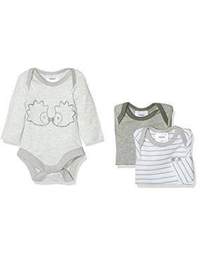 Twins Unisex Baby Body langarm, 3er Pack
