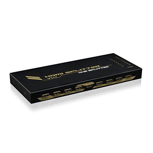 PORTTA HDMI Splitter 1x16 16 Port v1.4 4k Verteiler 1 x IN 16 x OUT Unterstützung 3D PS4 DVD HDTV (Sewell Vga-splitter)