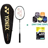 Yonex Voltric 5 With Yonex Badminton Grip And Racket String
