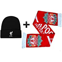 L.F.C Offizielles Liverpool FC (YNWA) Winterwärmer Set mit Mütze und Schal (100% Acryl)