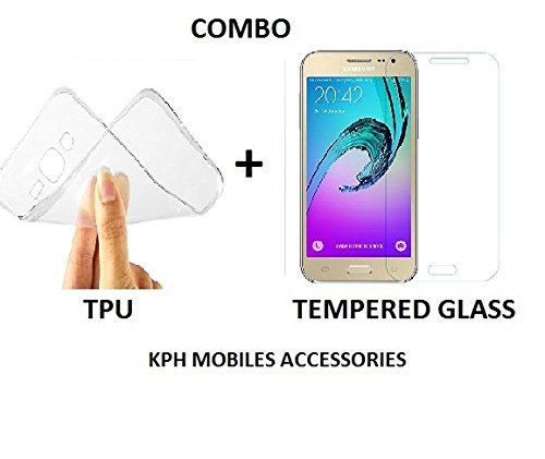 KPH Ultra Thin Flexible Soft TPU Slim Back Case Cover + Tempered Glass for HTC Desire 816 816G  available at amazon for Rs.120