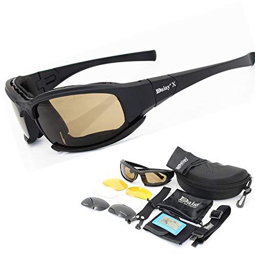WOQUXIA Männer polarisierten Sonnenbrillen Rauchen Motorrad-Schutzbrillen
