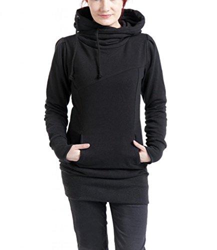 Dressation - Sweat à capuche - Uni - Manches Longues - Femme Noir - Noir