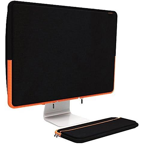 Pawtec iMac de 27pulgadas neopreno completo cuerpo funda Bundle para protección contra el polvo, almacenamiento, o transporte funda con funda teclado inalámbrico de Apple, compatible con 27-inch iMac, color negro