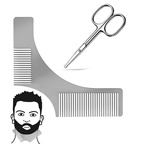 barba-modello-pettine-strumento-acciaio-barba-forbici-barba-per-il-perfetto-bartfom-lo-styling-della