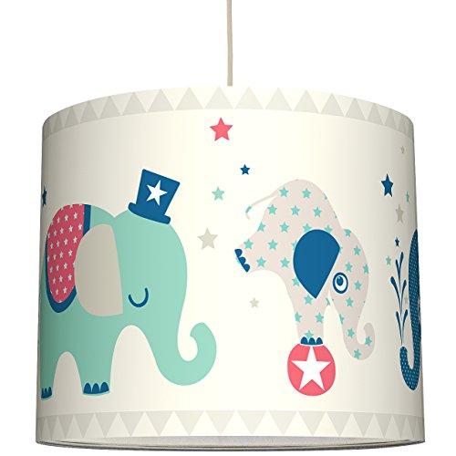 anna wand Lampenschirm ELEFANTEN BOYS - Schirm für Kinder/Baby Lampe mit Elefanten in versch. Farben – Sanftes Licht für Tisch-, Steh- &...