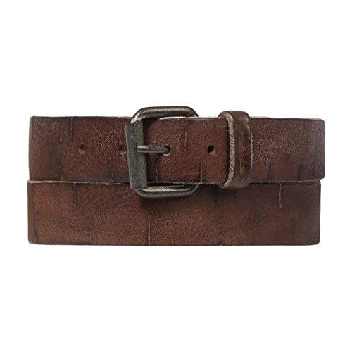 Cowboysbelt Unisex Leder Gürtel 353001 Brown - Größe 95