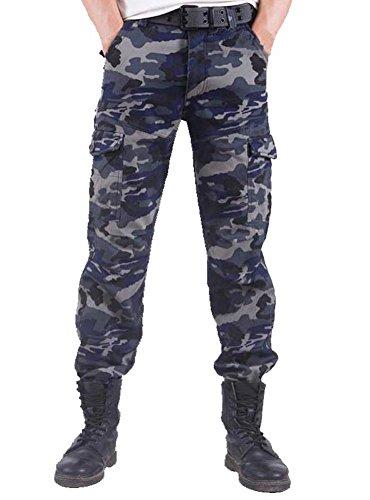 YX tuta da uomo mimetico, e velluto pantaloni cargo, non serve Long Johns In Inverno 3 54 (Waist:100cm/39.3