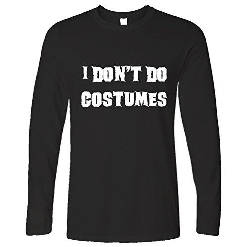 (Tim And Ted Neuheit Halloween Langarmshirt I Do not Kostüme tun Black Small)