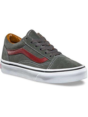 VANS VIEUX SKOOL chaussures en daim gris A38HBOIR chaussures bébé lacets Gunmetal