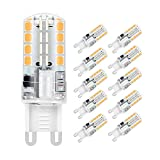 Jpodream® G9 LED Lampe, 5W 32X 2835SMD Umweltfreundliche Lampe, 400LM, Ersatz für 40W Halogenlampen Warmweiß 3000K, 360° Abstrahlwinkel, AC220-240V - 10er Pack