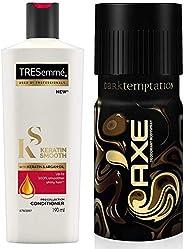 TRESemme Keratin Smooth Conditioner, 190ml & AXE Dark Temptation Deodorant, 150ml