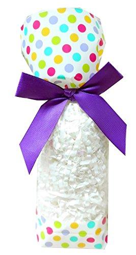 50 x klar Zellophan Block Boden Party süß Süßigkeiten behandeln Taschen (klein - 56x37x220mm) - Spotty Dotty Ostern Geschenke (Ostern Behandeln Taschen)