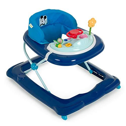Hauck Player Girello Bambino Disney da 6 Mesi a 12 Kg Primi Passi con Musica con Centro Giochi e Ruote Seduta Imbottita Rimovibile Regolabile in Altezza, Mickey Blue (Blu)