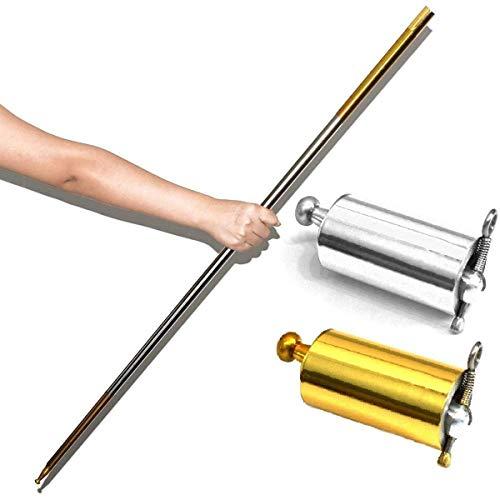 Metall-stab (Zauber! POCKET STAF Tragbarer Zauberstab Beweglicher Kampfsport-Stab aus Metall 1.1M 1.5M (Color : 150cm Sliver))