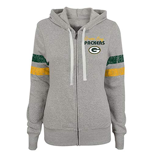 NFL Green Bay Packers Junioren Full Zip Hoodie Team Pride, Hunter Green, Junioren mittel (7-9), Damen, 9K1GJJAAR PCK B19-GXL57, Hunter Green, Juniors X-Large(15-17) Hunter Zip Hoodie