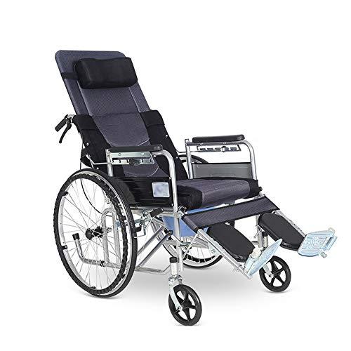 Drive Medical-transport-stuhl (MJKYJ Rollstuhl-Medical Transport Drive Stuhl-Faltbarer Rollstuhl mit Handbremsen und Töpfchen für ältere Patienten)