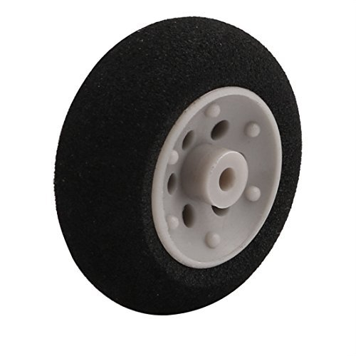 UXCELL Sellify Black Ultralight Rubber Sponge Wheel 25mm x 10mm for 2mm Shaft Dia RC Aircraft