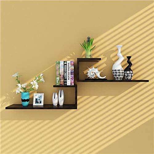 SOENVHG 2 Stück/Set Stil Multicolor Holz Regale Wand schindel Decor Kinder Bücherregal Vase...