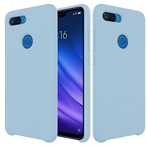 Pacyer Funda Compatible conXiaomi Mi 8 Lite, Ultra Suave TPU Gel de Silicona Case Protectora Suave Flexible teléfono Absorción de Impacto Elegante Carcasa Compatible Xiaomi Mi 8 Lite (Azul Menta)