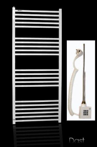 Toallero calefactor eléctrico para baño (1142 x 600 mm, 712 W), color blanco
