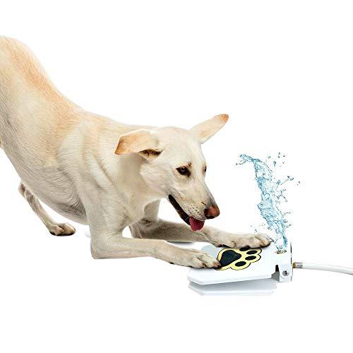 TOOGOO Haustier im Freien, das auf die Wasser Spender Haustier Berieselungs Anlage Hunde Wasser Brunnen Haustier Wasser Spiel Waren Garten Haustier Versorgungs Materialien Tritt