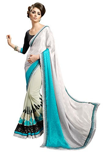Manvaa Dual Shaded Self Jacquard Party Wear Saree  available at amazon for Rs.860
