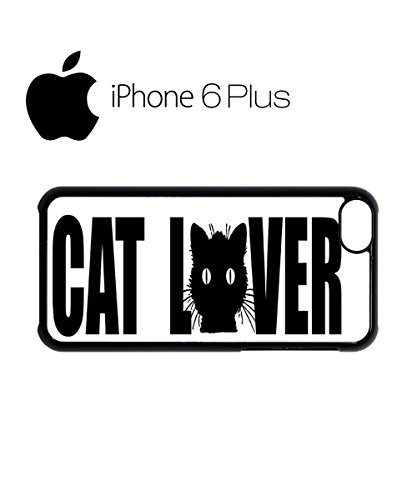 Cat Lover Paw Cute Mobile Cell Phone Case Cover iPhone 6 Plus Black Weiß