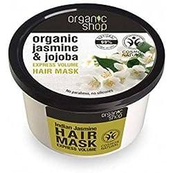 ORGANIC SHOP - Mascarilla Capillar voluminizador hecho de Aceite de Jojoba orgánica y el Extracto de Jazmín Orgánico - Volumen y Suavidad - Reparación intensiva y nutrición - 250 ml