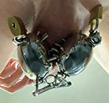BDSM Erotik Ball Torture CPT Toy Set einzelne Eierschallen mit Spikes absperrbar