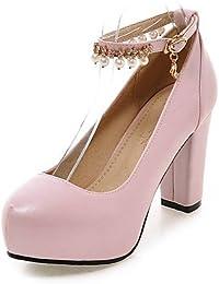 GGX/ Zapatos de mujer-Tacón Stiletto-Confort / Punta Redonda-Tacones-Boda / Vestido-PU-Rojo / Plata , red-us6 / eu36 / uk4 / cn36 , red-us6 / eu36 / uk4 / cn36