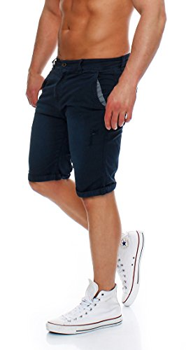 ... Z-ONE Herren destroyed Bermuda Shorts Mens Pants kurze Hose Chino Shorts  Navy ... 310213566f