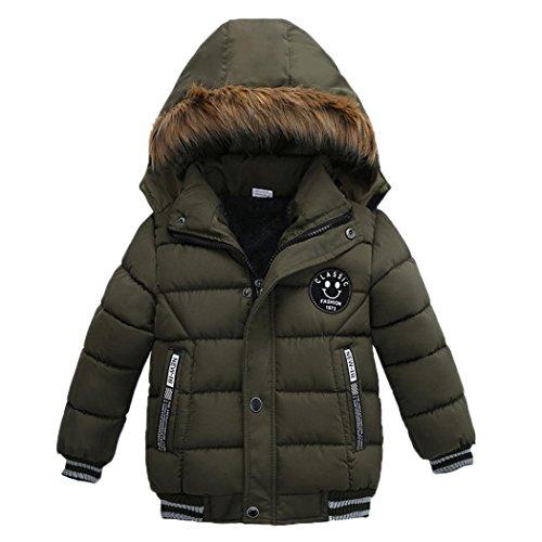 d2a8fd206 K-youth® Ropa Niño Invierno Sudadera con capucha Abrigo De Algodón  Engrosamiento Chaqueta (