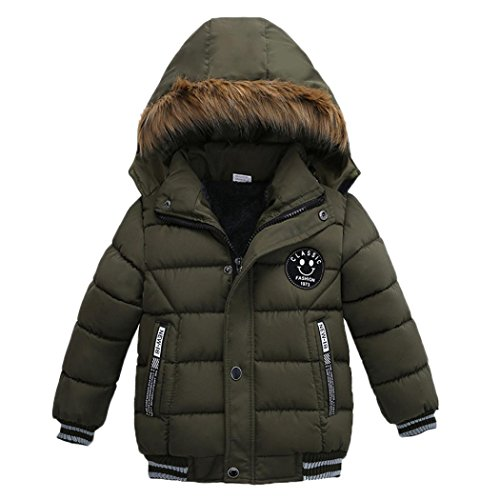 K-youth® Ropa Niño Invierno Sudadera capucha Abrigo