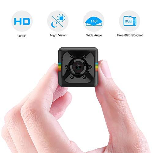 Mini Kamera, Flylinktech Full HD 1080P Mini Cam Überwachungskamera mit Nachtsicht und 8G SD Card Gefälschte Video-Überwachung