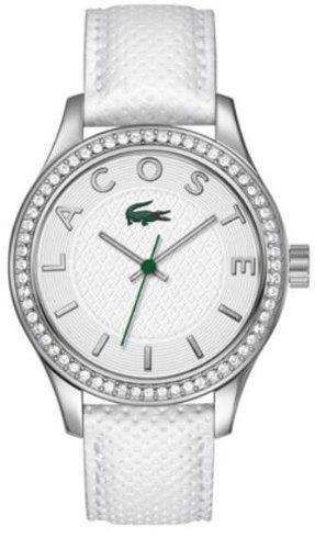 Lacoste-Orologio da donna al quarzo con Display analogico e cinturino in pelle bianco 2000796