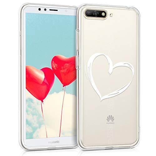 kwmobile Huawei Y6 (2018) Hülle - Handyhülle für Huawei Y6 (2018) - Handy Case in Weiß Transparent