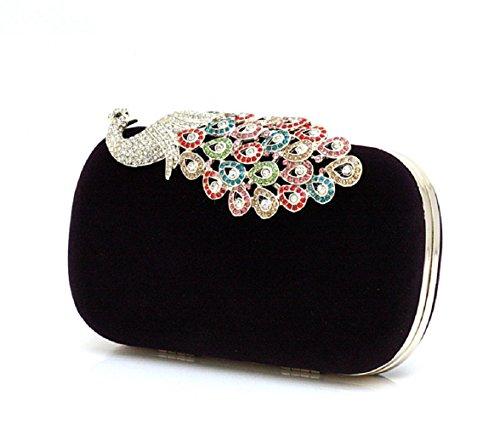 sac de soirée mini/ Paon/Main de diamant/Pochette/Paquet de banquet-C C