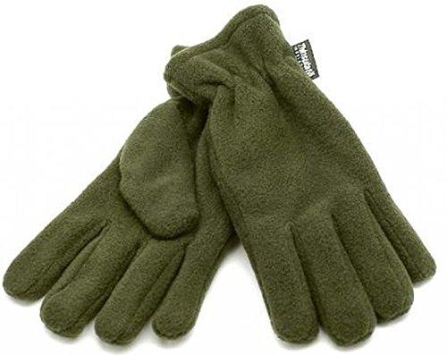 Warme & Weiche Thinsulate Fleece Handschuhe Winterhandschuhe in Oliv oder Schwarz XS-XXL (XL, Oliv)