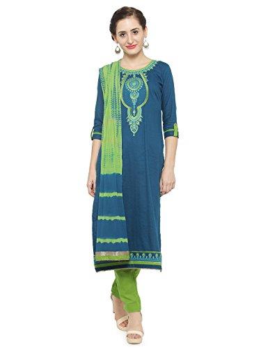 Kvsfab Women's Cotton Unstitched Salwar Kameez Dupatta Material [KVSSK10082_3]