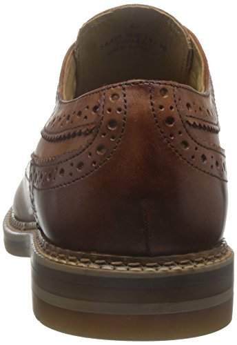 Base London Mens Turner Leather Shoes Fauve