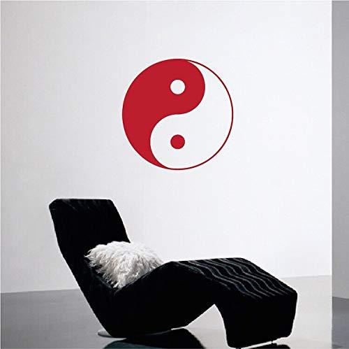 Tianpengyuanshuai Yin Yang Aufkleber Aufkleber Wohnzimmer Dekoration Kunst Vinyl entfernbare wandaufkleber Schlafzimmer Wohnzimmer Dekoration 85x85 cm