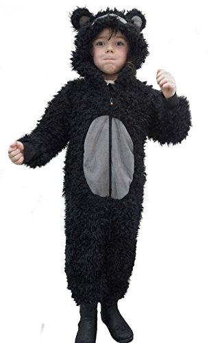 Kinder Jungen Mädchen Tier Overall Flauschig Fleece Affe Rentier Dalmatiner Kinder 2 Jahre -11 Jahre, Braun - Gorilla, Age 6-7 Jahre (Dalmatiner Overall Disney Kostüm)