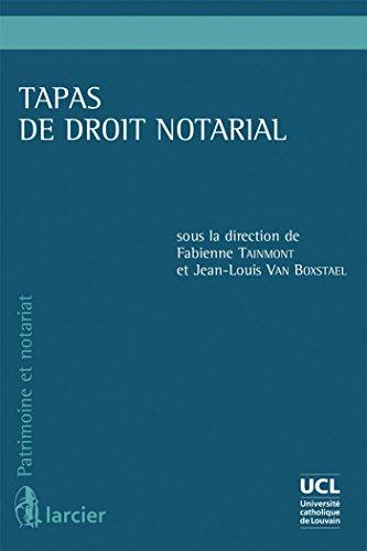Tapas de droit notarial