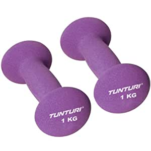 Tunturi Haltères en néoprène Violet Violet 1 kg