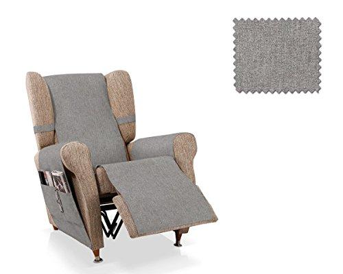 JM Textil Sesselschoner Relax Pharma Größe 1 Sitzer (55 cm), Farbe Grau