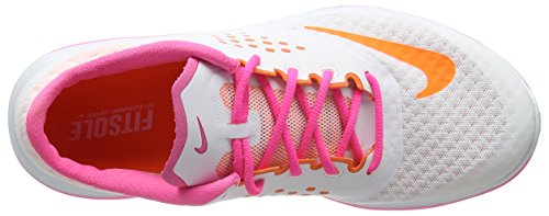 Nike Damen Fs Lite Run 2 Derby, 7.0UK/ 26.0cm Violett (white/total orange-pink pow)