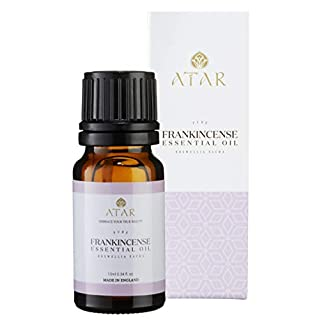Frankincense Premium Essential Oil,100% Pure & Organic,Undiluted,Relieve Chronic Stress & Anxiety,Reduce Inflammation,Distilled from Boswellia Sacra resins from Salalah,Oman -10 ml Essential Oil-Sidra