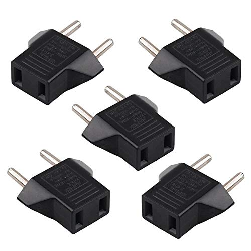 SM-PC® Set 5 STK. Reiseadapter US Stecker auf EU Euro Stecker #143 Pc Usa-adapter