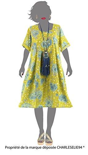 Charleselie94 - Kleid kugel sommer baumwolle boheme anis PERGOLA GRÜN Grün